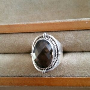 Jewelry - Amethyst and sterling silver ring.